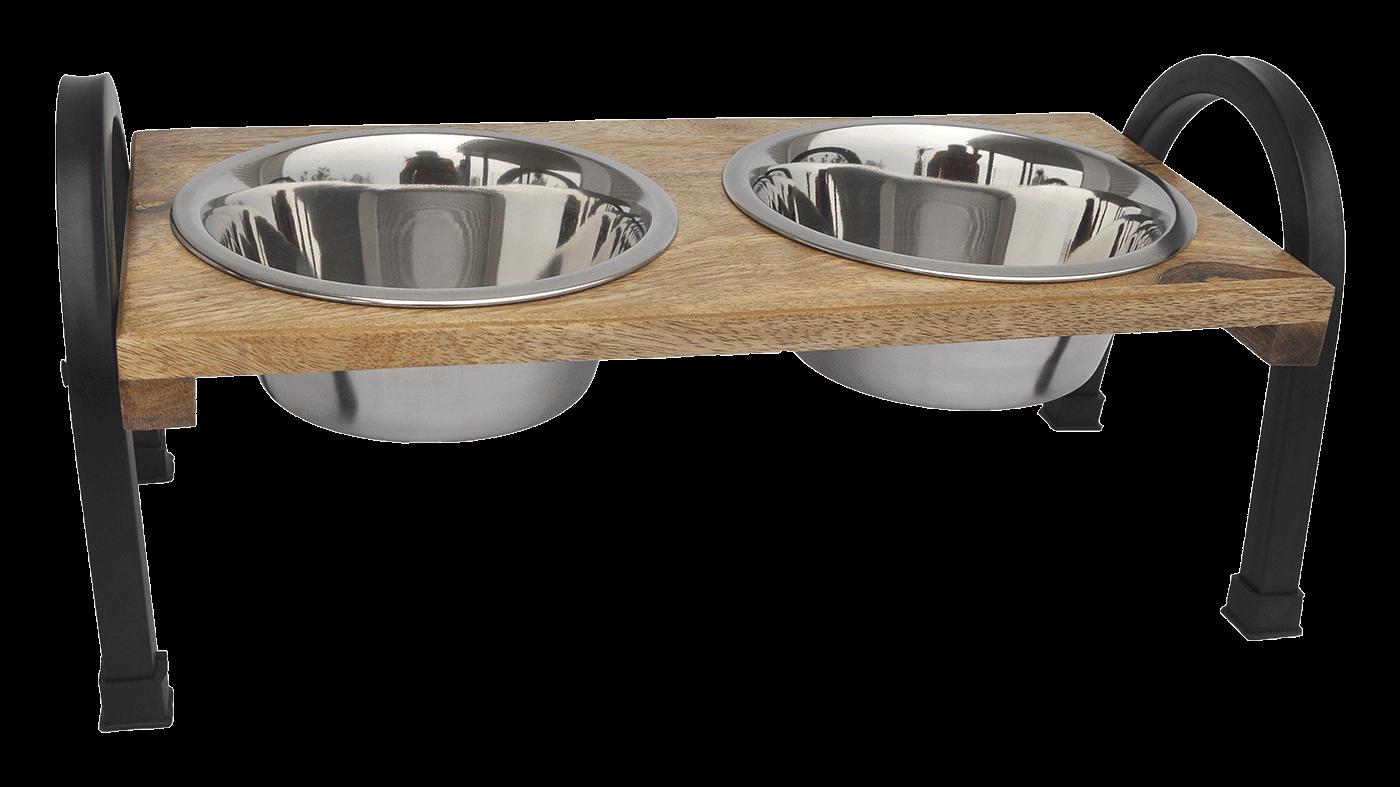Wooden 'U' Design Double Diner